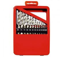 Набор сверл по металлу, 2-8 мм (через 0,5 мм), HSS, 13 шт., метал. коробка цил. хвостовик// MATRIX