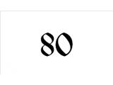 80 (75)