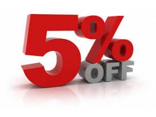 Скидка 5% на все заказы