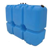 Танк для топлива 2000 л с крышкой и сливом Синий Т2000КЗ