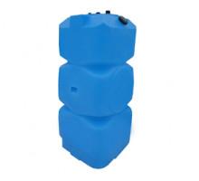 Танк для топлива 800 л вертикальный с крышкой и сливом Синий Т800ВКЗ