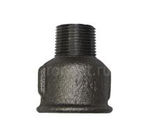 Муфта чугунная Д 15 черная НР-ВР