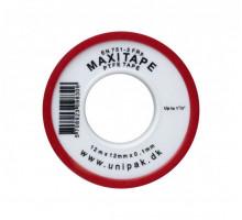 Фум-лента MAXITAPE (12 м х 12 мм х 0,1 мм) (красн.