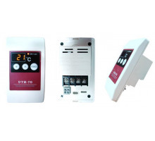 Терморегулятор встраиваемый сенсорный цифровой дисплей UTH-70 (3KW)