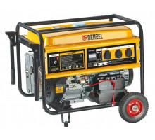 Генератор бензиновый GE 7900E, 6,5 кВт, 220В/50Гц, 25 л, электростартер// Denzel