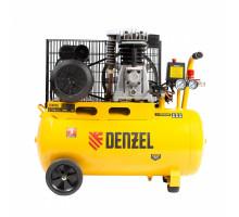 Компрессор воздушный рем. привод BCI2300/50, 2,3 кВт, 50 литров, 400 л/мин// Denzel