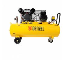 Компрессор воздушный рем. привод BCV2300/100, 2,3 кВт, 100 литров, 440 л/мин// Denzel