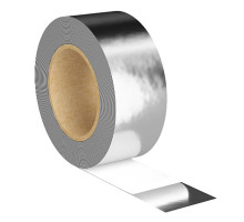 Лента алюминиевая армированная клейкая 50мм х 50м, 85 мкм(рабочая t от -40 С до +100 С)
