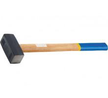 Кувалда, 4000 г, кованая головка, деревянная рукоятка// СИБРТЕХ