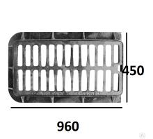 Дождеприемник чугунный ДБ (прямоугольный) исп.1 (960х450)