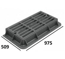 Дождеприемник чугунный прям. 975х509х120 (Кронтиф), 125 кН