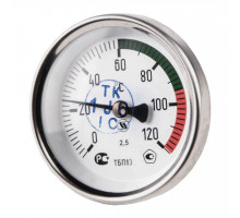Термометр  биметал. ТБП-Т-100 (120С, ножка 100, осев)