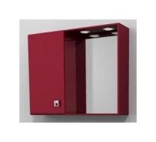 """Зеркало-шкаф """"Мелани"""" 80см, красный, светильник (код 27410)"""