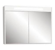 "Зеркало-шкаф ""Рондо""86см, белый, светильник, вык.розетка (код 30657)"