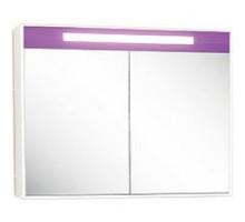 """Зеркало-шкаф """"Рондо""""86см, фиолетовый, светильник, вык.розетка (код 30659)"""