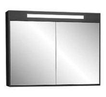 """Зеркало-шкаф """"Рондо""""86см,черный, светильник, вык.розетка (код 30661)"""