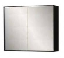 "Зеркало-шкаф купе  ""Квадро new"" 60см, черный, светодиод, розетка, выкл. (код 27586)"