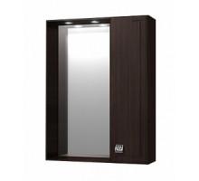 """Зеркало """"Толедо"""" 50см, шкаф справа, свет, розетка, венге(код 27654)"""