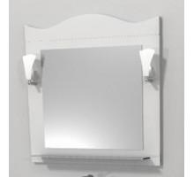 "Зеркало ""Венеция"" 65см, белый, декор.светильник (код 27407)"
