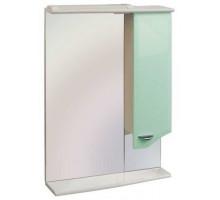 """Зеркало """"Roman"""" 60 см шкаф справа, свет, выкл., розетка салатовое (код 14471)"""