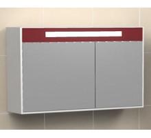 "Зеркало-шкаф ""Рондо""70см, бордо, светильник, вык.розетка (код 33104)"