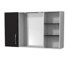 """Зеркало-шкаф """"Валенсия"""" 120см, черный, светильник, вык.розетка (код 27592)"""