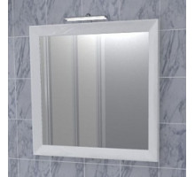 "Зеркало ""Торнадо"" 65см, белый, декор.светильник (код 27589)"
