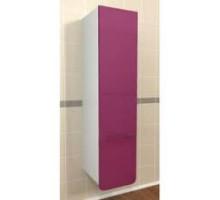 """Шкаф-колонна подвесная """"Адажио"""" 30 см с 1-ним нижнем  ящиком, фиолетовый (код 26088)"""