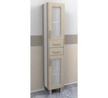 """Шкаф-колонна """"Гермес"""" 34 см с 2-мя ящиками дуб выбеленный (код 18365)"""