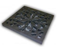 Решетка пластиковая декоративная к дождеприемнику (металлик)