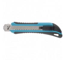 Нож 170 мм, обрезин. ABS - корпус, выдв.сегм.лезвие 18 мм (SK-5), метал. напр-щая + 5 лезвий// Gross