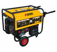 Генератор бензиновый GE 4500Е, 4,5 кВт, 220В/50Гц, 25 л, электростартер // Denzel