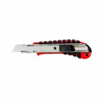 Нож, 18 мм выдвижное лезвие металлическая направляющая эргоном. двухкомпонентная рукоятка// Matrix