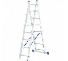 Лестница двухсекционная алюминиевая Кратон 2х8 ст.