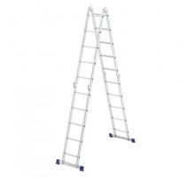 Лестница шарнирная алюминиевая, 4х5, Россия// Сибртех