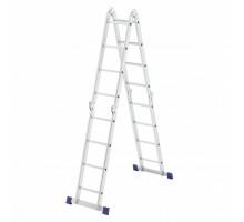 Лестница шарнирная алюминиевая, 4х4, Россия// Сибртех