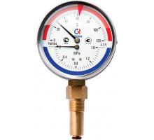 Термоманометр ТМТБ-41P Dy 100 с нижним подключением 1/2, 6 бар 0-120  ТМТБ-41Р.0406120