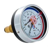 """Термоманометр ТМТБ-41Т Dy 100 с задним подключением 1/2"""", 10 бар 0-120"""