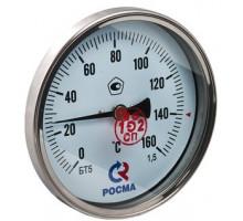 """Термометр БT-51 Dy 100 с задн. подкл., 1/2"""" 0-120*  (L=64мм, кл. точн. 1,5)"""