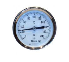 Термометр  биметал. ТБ-63 (120С, ножка 100, осев) заднее 1/2