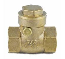 Клапан/затвор обратный латунь 3003 Ду 32 Ру 30 ВР с лат/уплотнение Aquasfera 3003-04 Горизонтальный