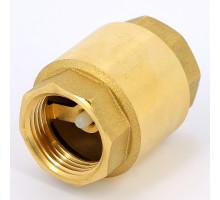 Клапан обратный латунь 3001 Ду 20 Py10 ВР пружинный Aquasfera 3001-02