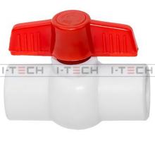 Кран шаровый I-TECH STANDART PPR 25, шар пластик, бабочка, для хол воды