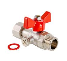 """Кран шаровой для подключения манометра, 1/2""""нар -1/2""""вн. VALTEC VT.806.N.0404"""