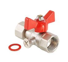 """Кран шаровой для подключения манометра, 1/2""""вн. -1/2""""вн. VALTEC VT.807.N.0404"""