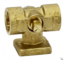 Кран латунный д/манометра 11Б38бк Д 15 с площад РУ-16
