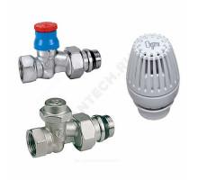"""Комплект термостатический жид/нап хром Ду 20 Ру 10 R3/4""""х Rp3/4"""" прямой ВР Ogint"""