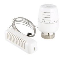 Термоголовка VALTEC с выносным настенным датчиком, диап. регул-ки 6,5 - 28°C, жидкостная VT.5010.0.0