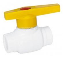 Кран шаровый I-TECH Standart садовый PPR 50, шар пластик, ручка, для хол воды