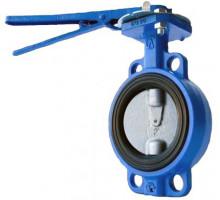 Затвор поворотный дисковый Д 80 корпус и диск ковкий чугун (PN 1.6 Mpa,t=130 С°)